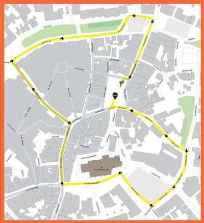 Route Kinderoptocht 2019 - Kuuk'n festival nieuwe route en nieuwe opzet