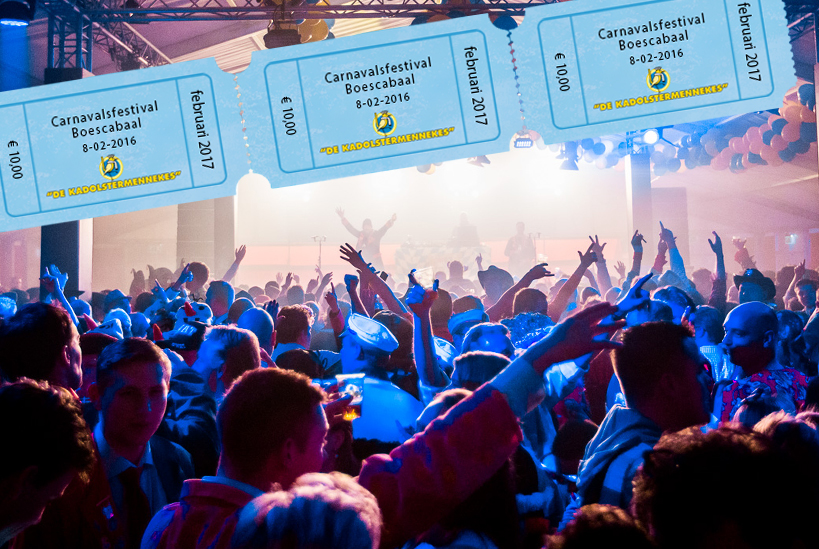 kaartverkoop carnavalsfestival boescabaal