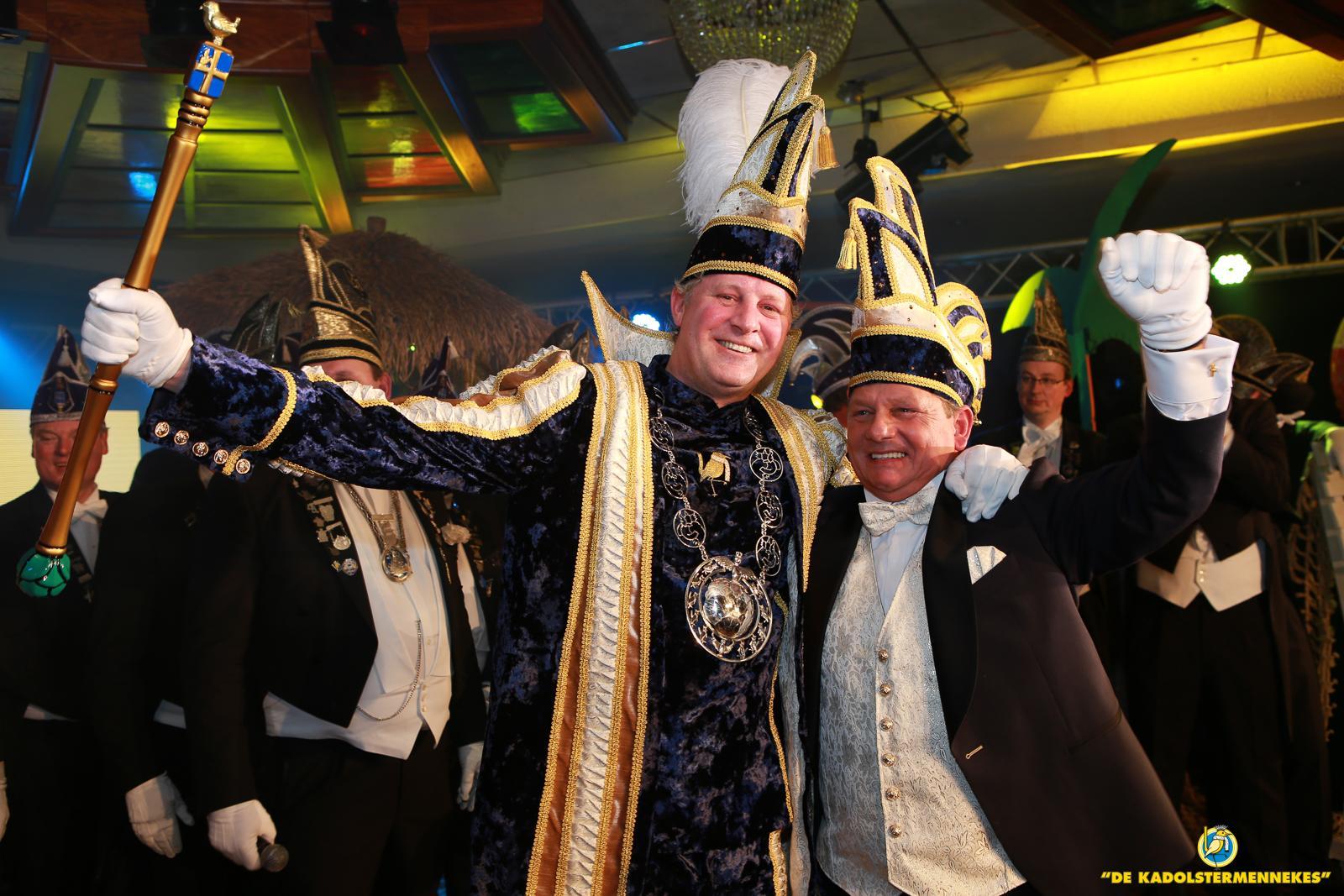 Prins Bas 63e stadsprins van de Boeskoolstad met Sik Rene Falkmann
