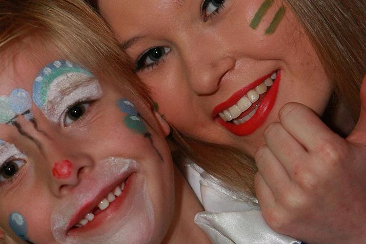 Het kindercarnaval na de grote optocht bij rouwhorst