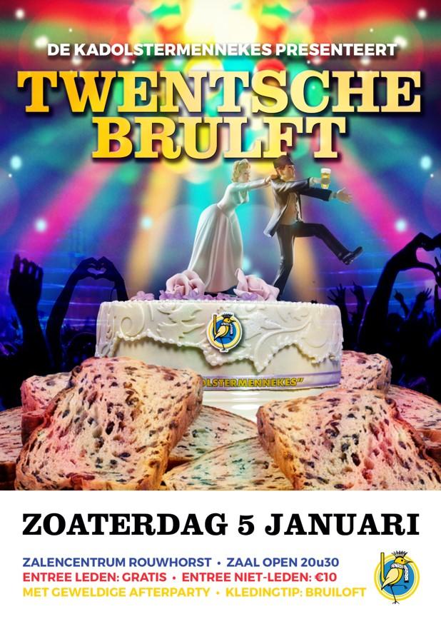 Thema Prinsenbal Twentsche Brulft - partycentrum Rouwhorst omgetoverd in een deinende trouwzaal. Thema van het Prinsenbal is 'Twentsche Brulft' en de vaste bezoekers van dit eerste feest van 2019 weten dan dat De Kadolstermennekes alles uit de kast halen.
