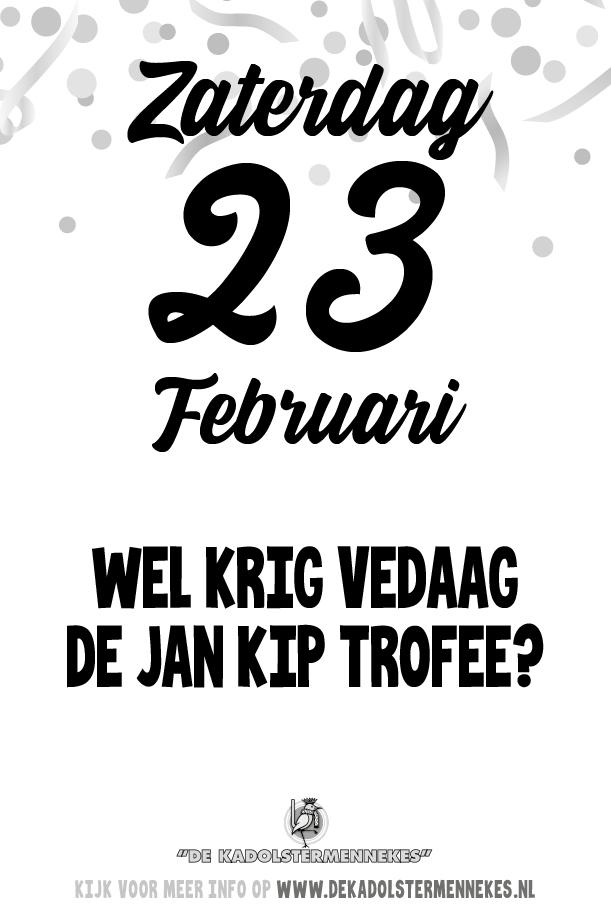 Skeurkalender Kadolstermennekes zaterdag 23 februari 2019 (vandaag is het zaterdag 23 februari 2019)
