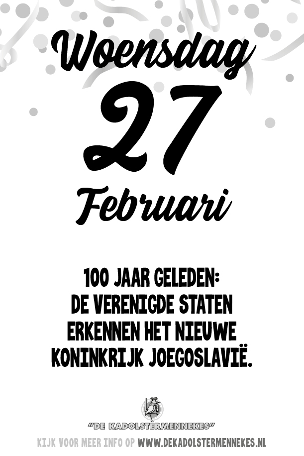 Skeurkalender Kadolstermennekes woensdag 27 februari 2019 (vandaag is het woensdag 27 februari 2019)