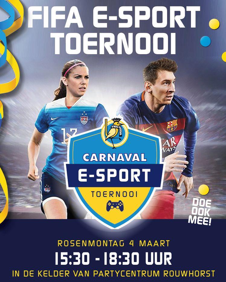 Uitnodiging voor FIFA E-Sport toernooi op Rosenmontag bij OCV De Kadolstermennekes