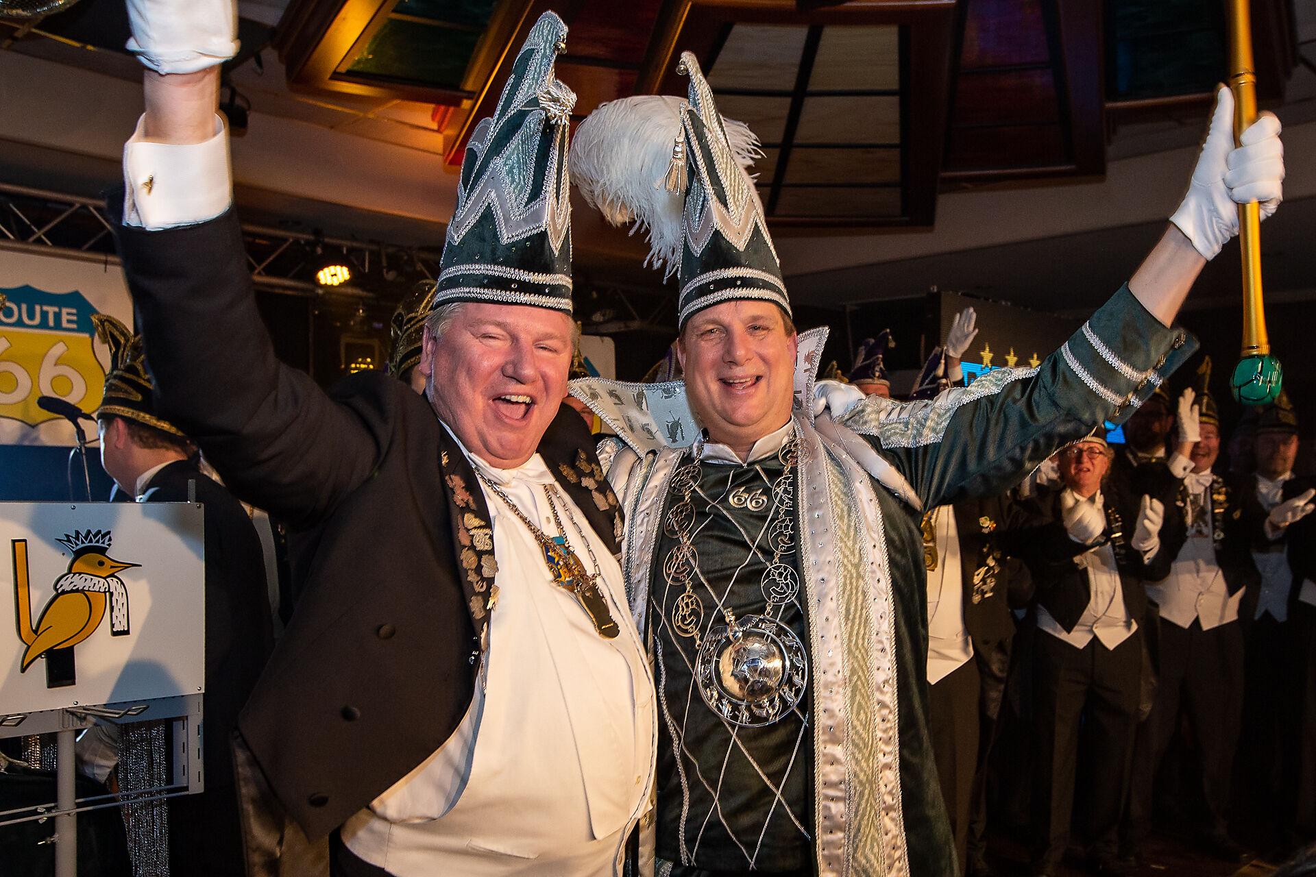 Stadsprins Rob Hofland en Sik Bert Kock