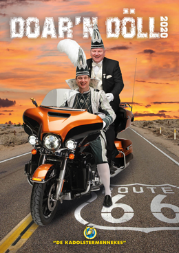 Doar'n Döll 2020 - DD2020 - Thema Route66 Carnavalsmagazine van de Boeskoolstad