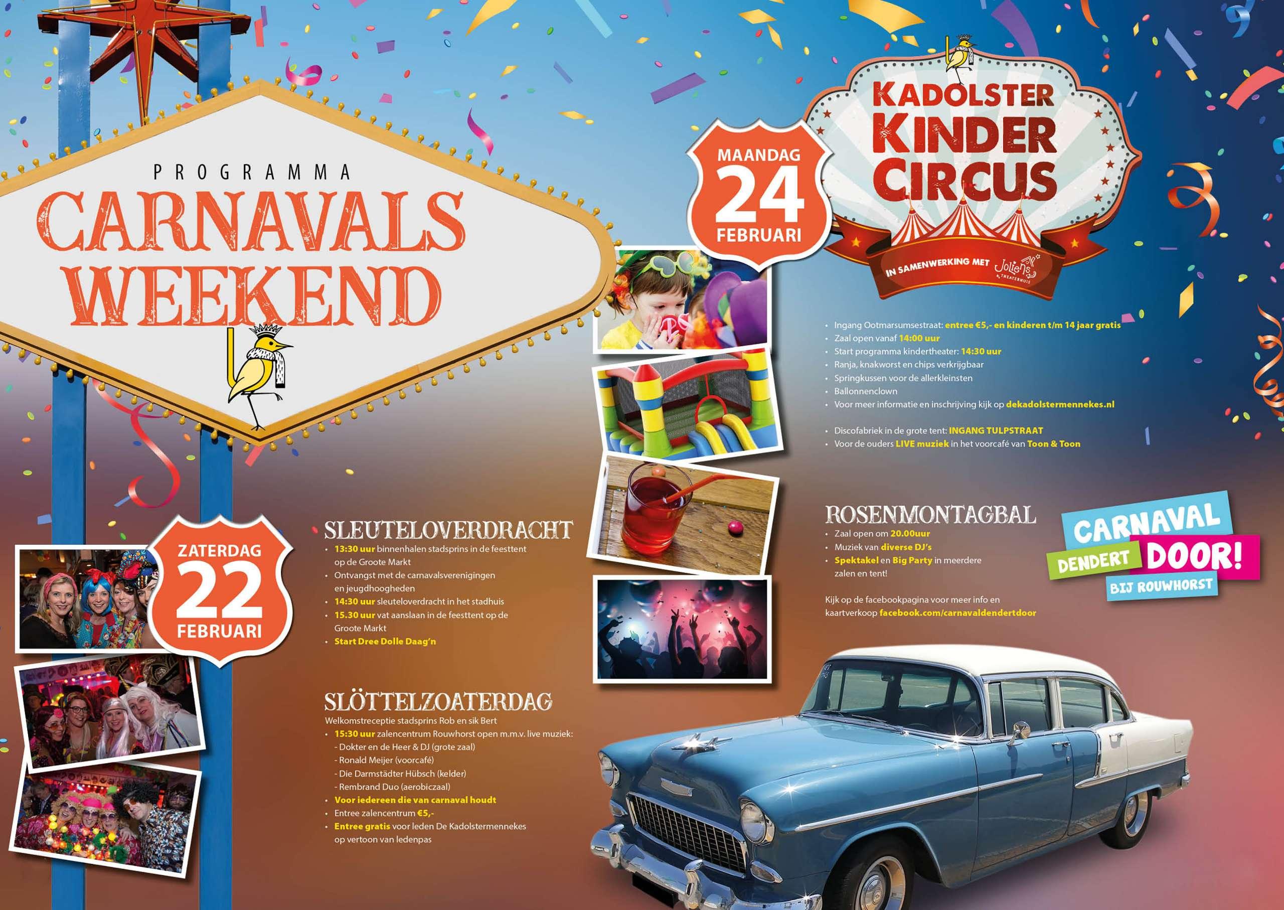 Programma Carnavalsweekend 2020 OCV De Kadolstermennekes